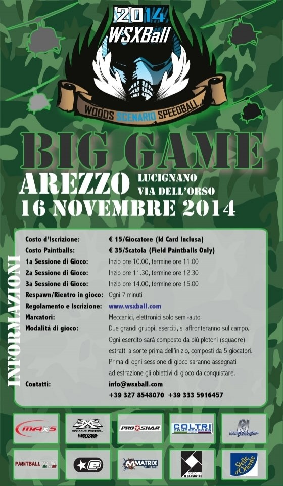 BIG GAME WSXBALL - A.S.D. Paintballs Arezzo