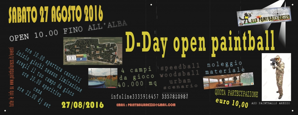 D-Day open Paintball & Music - A.S.D. Paintballs Arezzo